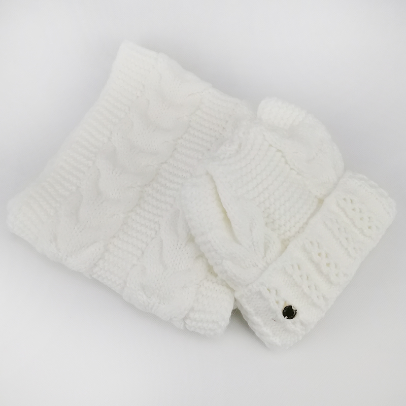 зд1202-32 Комплект вязаный шапка/снуд толстая вязка Сириус молочный