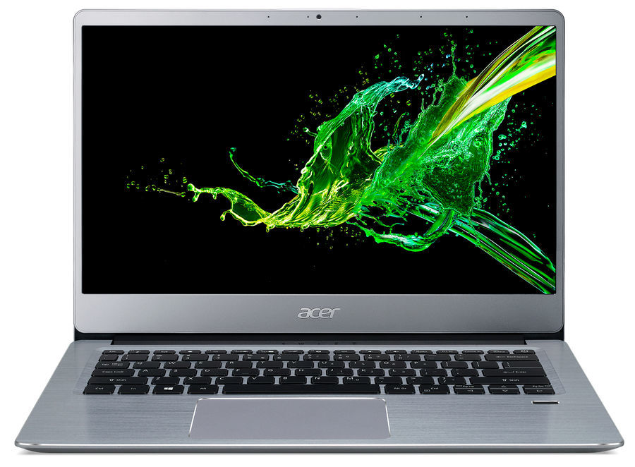 "Ноутбук Acer Swift 3 SF314-58G (NX.HPKEU.00A); 14"" FullHD (1920x1080) IPS LED глянцевый / Intel Core i3-10110U (2.1 - 4.1 ГГц) / RAM 8 ГБ / SSD 256 ГБ / nVidia GeForce MX250, 2 ГБ / без ОП / Wi-Fi / BT / веб-камера / Endless OS / 1.6 кг / серебристый"