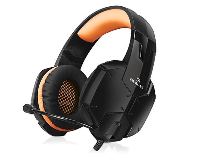 Гарнитура REAL-EL GDX-7700 Black/Orange UAH