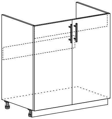 Шкаф нижний 2-х дверный под мойку Глория ШНМ 800