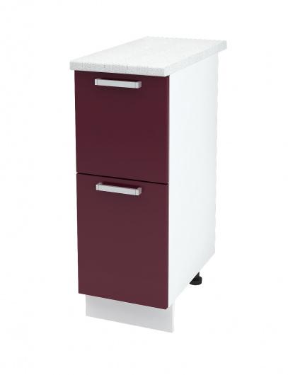 Шкаф нижний с двумя ящиками Глория ШН2Я 300
