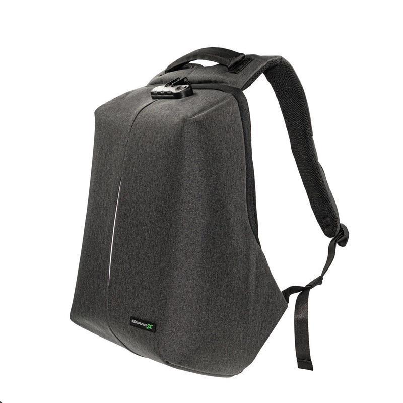 """Рюкзак для ноутбука Grand-X RS-625 15,6"""" (кодовый замок, защита от ножа, зарядка гаджетов)"""
