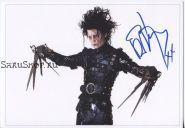 Автограф: Джонни Депп. Эдвард руки-ножницы