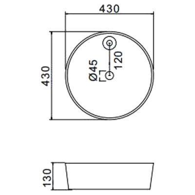 Раковина на столешницу Gappo GT104