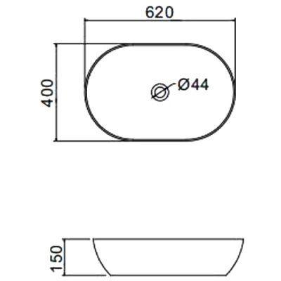 Раковина на столешницу Gappo GT302