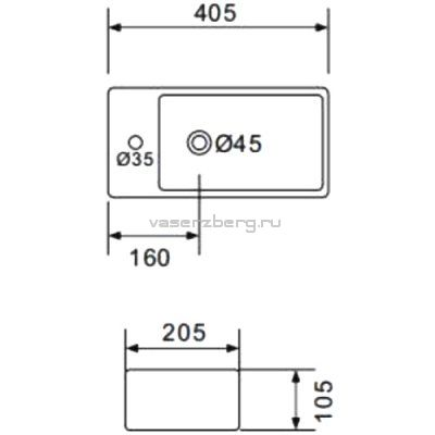 Настенная раковина Gappo GT706R