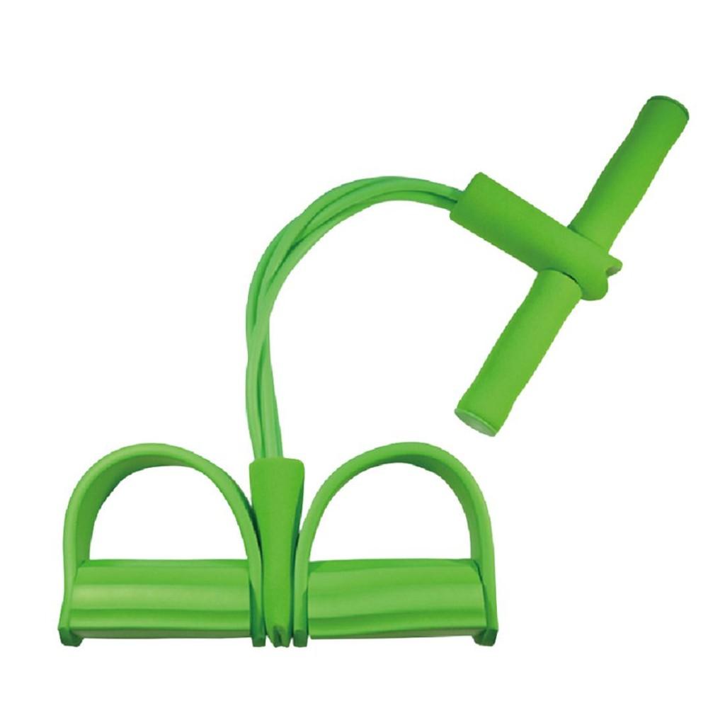 Универсальный латексный эспандер с ручками и упорами для ног, 4 трубки