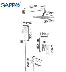 Встраиваемая душевая система Gappo G7117-6