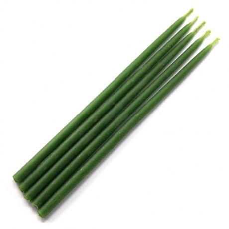 Свеча магическая 15х0,5см, цвет зелёный
