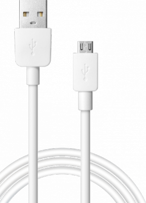USB кабель USB08-01M AM-microBM, белый, 1m, пакет
