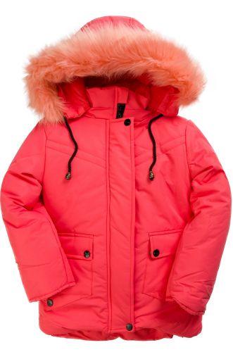 Зимняя куртка для девочек 4-8 лет Bonito OP015K коралловый