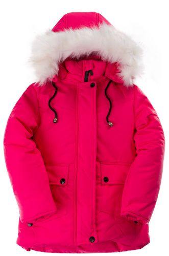 Зимняя куртка для девочек 4-8 лет Bonito OP015K малиновый