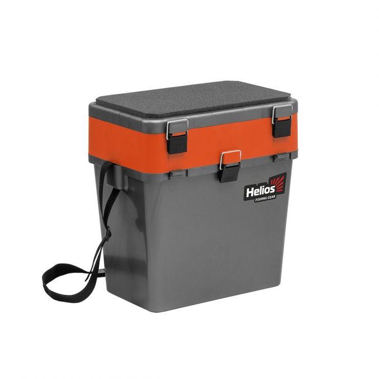 Ящик зимний HELIOS двухсекционный серый/оранжевый HS-IB-19-GO
