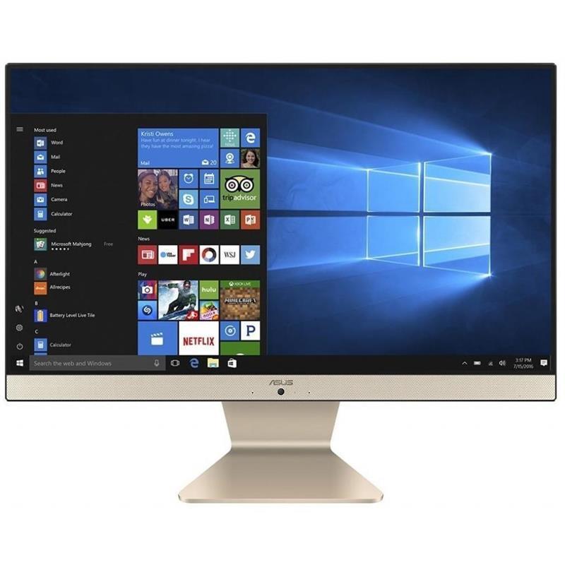 "Моноблок Asus M241DAK-BA121T (90PT02P2-M03210); 23.8"" (1920х1080) IPS / AMD Ryzen 5 3500U (2.1 - 3.7 ГГц) / RAM 8 ГБ / SSD 256 ГБ / AMD Radeon Vega 8 Graphics / без ОП / LAN / Wi-Fi / Bluetooth / веб-камера / кардридер / Windows 10 Home / черно-золот"
