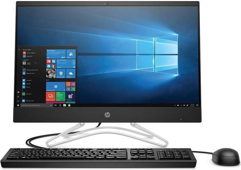 "Моноблок HP 200 G3 (4YV80ES) Black; 21.5"" (1920x1080) TN / Intel Core i5-8250U (1.6 - 3.4 ГГц) / RAM 8 ГБ / HDD 1 ТБ / Intel HD Graphics 620 / DVD-RW / LAN / Wi-Fi / Bluetooth / веб-камера / кардридер / DOS / черный / клавиатура + мышь"