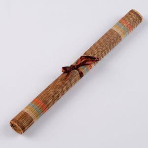 Салфетка плетеная темно-коричневая 40х30 см.(бамбук) 5399544