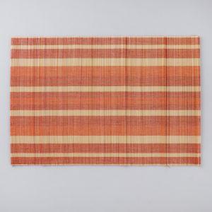 Салфетка плетёная, коричневая с белым, 30?45 см, бамбук 4427951