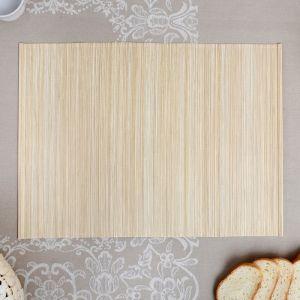 Салфетка плетёная, серая, 33?42 см, бамбук, ткань 4427941