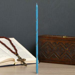 Свеча праздничная, голубая, цена за 1 шт, в упакове 25 шт 4284472