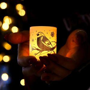 Электронная свеча «Снегири»