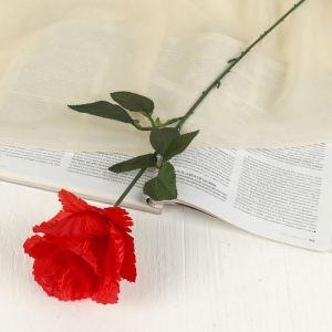 """Цветок искусственный """"Резная роза"""" красная"""
