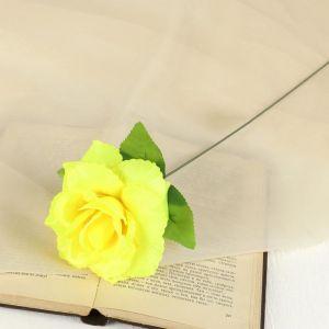"""Цветок искусственный """"Жёлтая роза Делайт"""""""