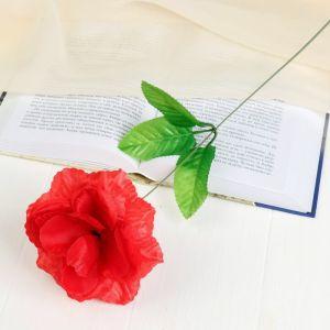 """Цветок искусственный """"Красная роза Делайт"""""""