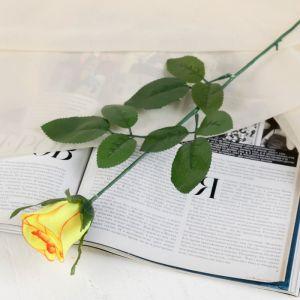 """Цветок искусственный """"Роза с окантовкой"""", микс"""