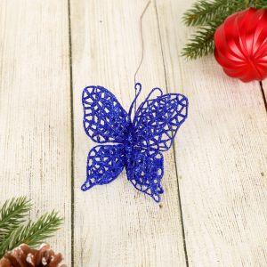 """Ветка для декора """"Перелив"""" ажурная бабочка, микс"""