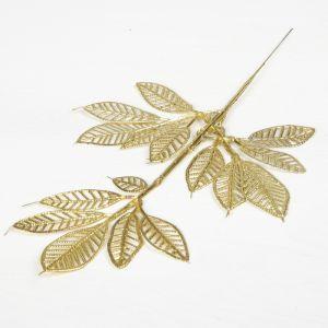 """Декор блеск """"Веточка лиственного дерева"""" 16*22 см, микс (золото, серебро)   3544388"""