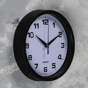 """Часы настенные, серия: Классика, """"Эми"""" d=19 см, плавный ход, 1 АА, чёрные   5165275"""