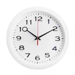 "Часы настенные ""Классика"", арабские цифры, белый обод, 28х28 см"