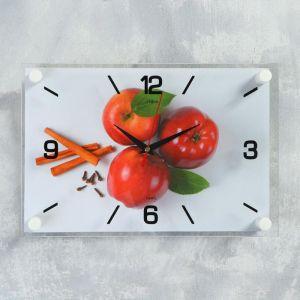 """Часы настенные, серия Кухня, """"Яблоки с корицей"""", плавный ход,  33 х23 см 5306698"""