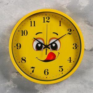"""Часы настенные, серия: Детские, """"Смайл"""" d=30 см, 1 АА, плавный ход   5169369"""