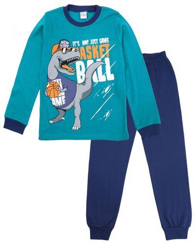 "Пижама для мальчика 9-12 лет Bonito kids ""Dino"" бирюзовая"