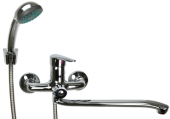 Смеситель ванно-душевой с длинным изливом