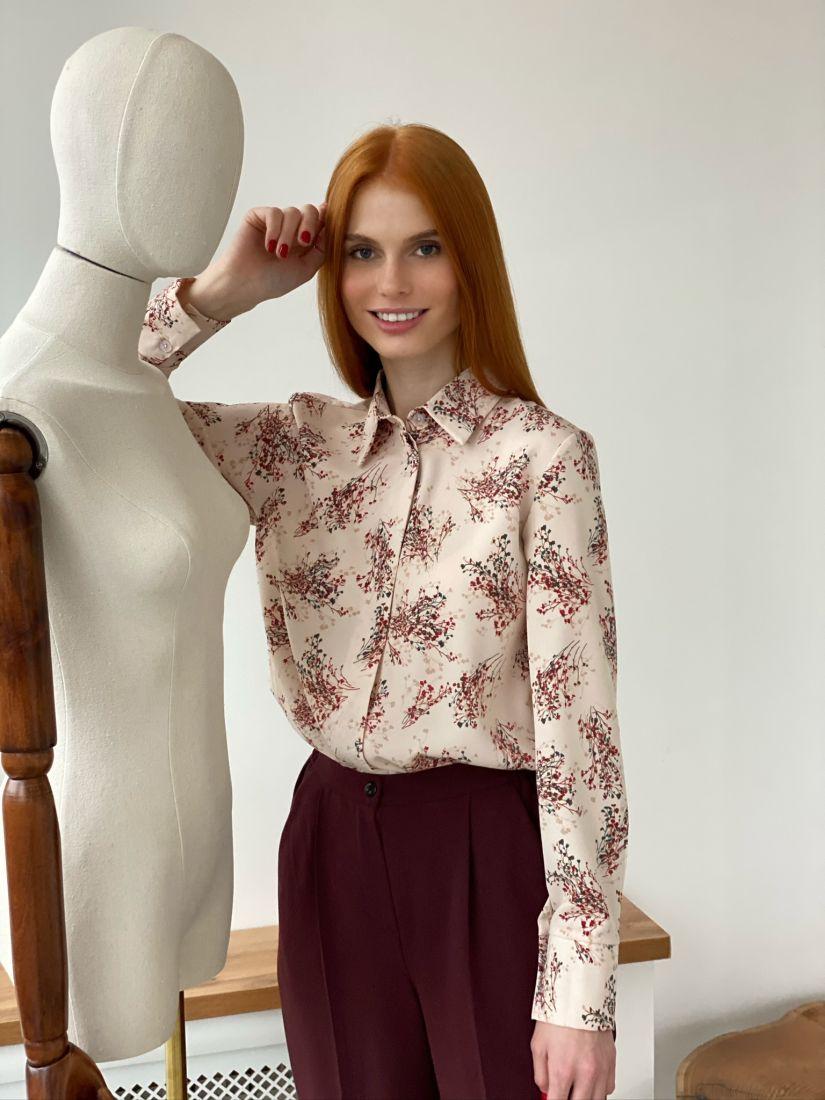 s2762 Блуза с супатной застёжкой в цвете айвори