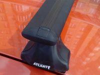Багажник на крышу Kia Ceed hatchback, Атлант, крыловидные аэродуги (черный цвет)