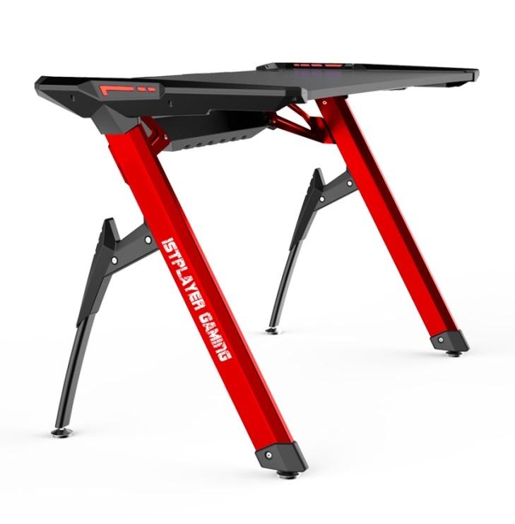 Геймерский стол 1stPlayer GT2 Black-Red + Подарок Коврик для мыши BK-39-H (900x350x5 мм)