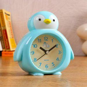 """Часы настольные """"Пингвин"""", d=7 см, 1 АА, дискретный ход, микс   5180701"""