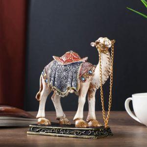 """Сувенир полистоун """"Песочный верблюд в ажурной накидке"""" МИКС 16,5х15,7х5,7 см   4556623"""