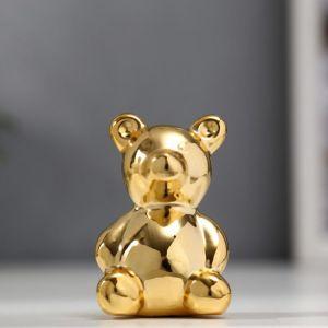 "Сувенир керамика ""Золотой медвежонок"" 5,5х3,5х3,3 см   5070165"