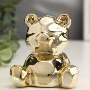 "Сувенир керамика ""Медвежонок"" золото 8х7х7,5 см   5109448"