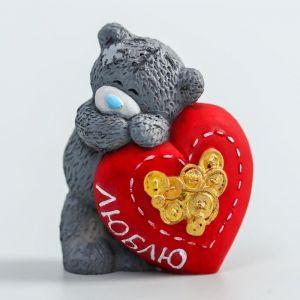 """Сувенир полистоун """"Медвежонок Me to you влюблённый с большим сердцем - Люблю"""" 4,5 см   4518159"""