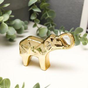 "Сувенир керамика ""Слонёнок"" золото 5,9х10,3х2,6 см   5070181"