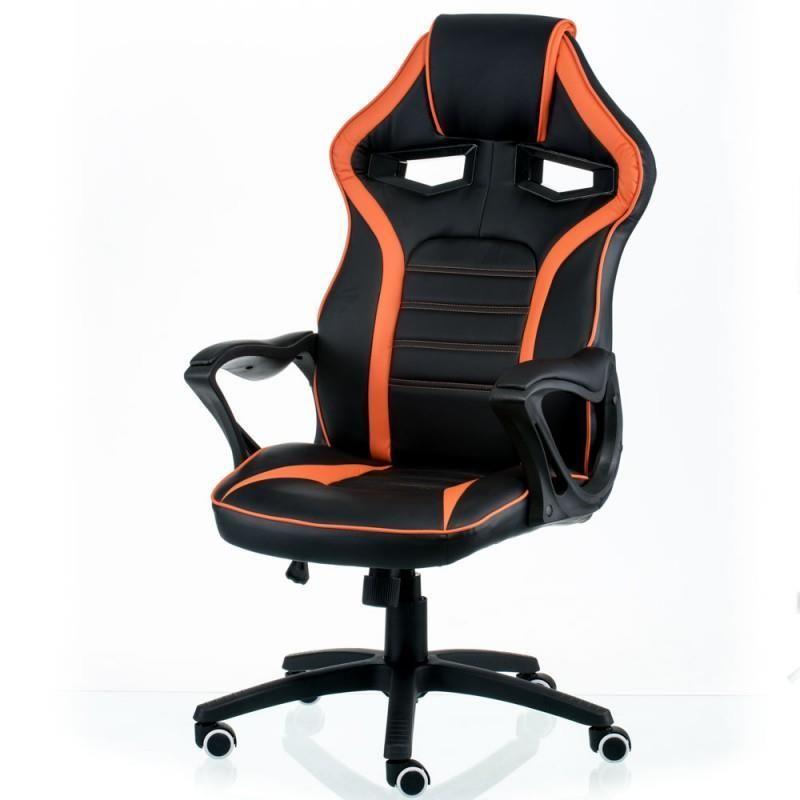 Кресло офисное Special4You Game Black/Orange (E5395)