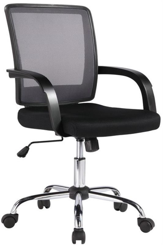 Кресло офисное Office4you Visano Black/Chrome (27786)