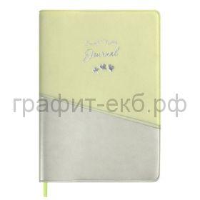 Книжка зап.Феникс+ А6 ПВХ серебряный/салатовый 96л. линия 52779