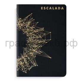 Книжка зап.Феникс+ А5 СОФТ-ТАЧ кожзам черный металлик 96л.в точку 50176