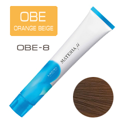 Lebel Materia µ Layfer OBE8 - Тонирующая краска лайфер, Светлый блондин оранжево-бежевый 80гр